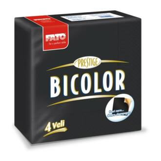 szalvéta fato bicolor 40x40 cm 4 rétegű fekete / pezsgő 50db