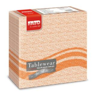 textilhatású szalvéta fato softair 40x40 cm flow narancs 50db