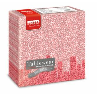 textilhatású szalvéta fato softair 40x40 cm skyline piros 50db
