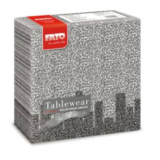 textilhatású szalvéta fato softair 40x40 cm skyline fekete 50db