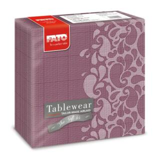 textilhatású szalvéta fato softair 40x40 cm drops gránit piros 50db