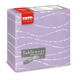 textilhatású szalvéta fato softair 40x40 cm perle lila 50db