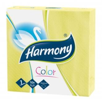 trend 1 réteg szalvéta harmony color citrom sárga 33x33 50db