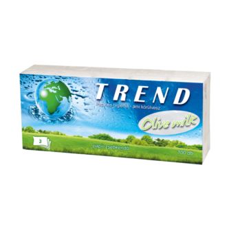 papírzsebkendő trend olive milk 3 rétegű 100db