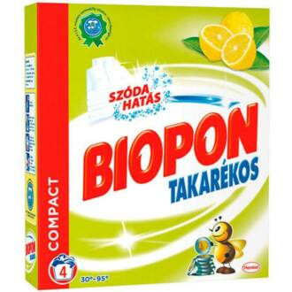 biopon takarékos mosópor white 300 g (4 mosás)