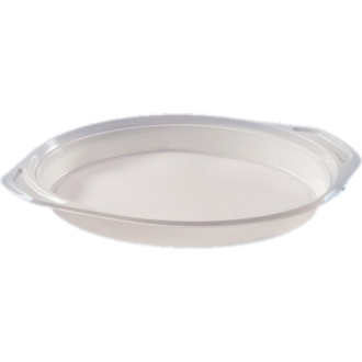 műanyag lapos tányér fehér 215 mm 3 részes pp