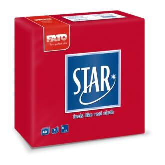 szalvéta fato star 38x38 cm 2 rétegű mikroprégelt piros 40db