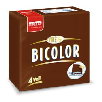 szalvéta fato bicolor 40x40 cm 4 rétegű csokoládé / pezsgő 50db