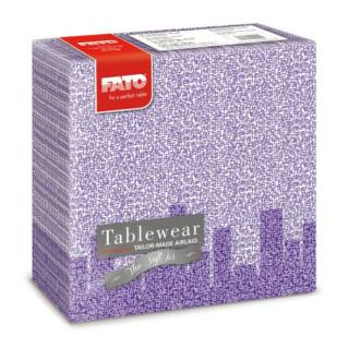 textilhatású szalvéta fato softair 40x40 cm skyline ibolya lila 50db