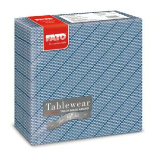 textilhatású szalvéta fato softair 40x40 cm twine kék 50db