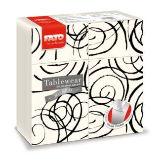 szalvéta-evőeszköztartó fato softair 40x40 cm textilhatású magie fekete 40db