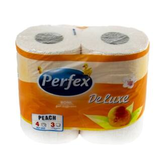 Háztartási toalettpapír Perfex 3rétegű 4tekercses