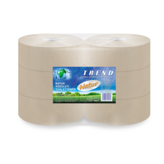 nagytekercses toalettpapír trend natúr maxi 1 rétegű 26 cm átm. 380m